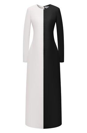 Женское кожаное платье GABRIELA HEARST черно-белого цвета, арт. 221443 L019   Фото 1