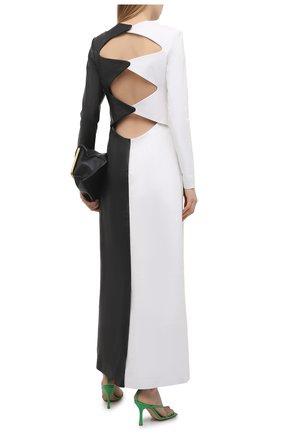 Женское кожаное платье GABRIELA HEARST черно-белого цвета, арт. 221443 L019   Фото 2