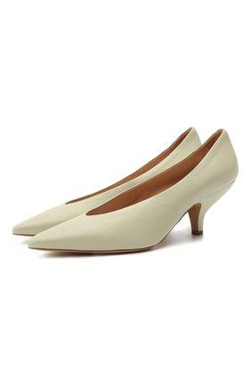 Женские кожаные туфли MAISON MARGIELA светло-зеленого цвета, арт. S58WL0207/P3753 | Фото 1