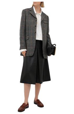 Женские кожаные лоферы camden MAISON MARGIELA коричневого цвета, арт. S58WR0090/P4043   Фото 2