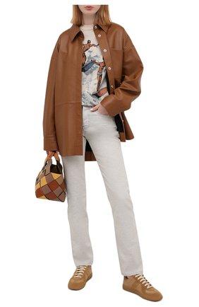 Женские кожаные кеды replica MAISON MARGIELA светло-коричневого цвета, арт. S58WS0109/P1895   Фото 2