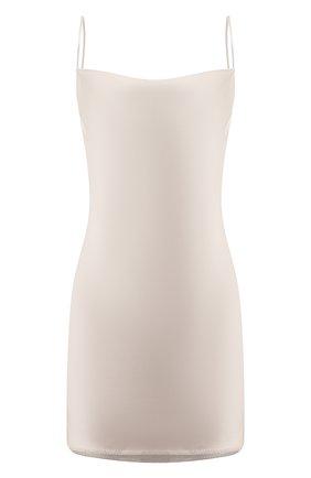 Женское платье NANUSHKA серебряного цвета, арт. L0TTI_SILVER TAUPE_SLIP SATIN | Фото 1
