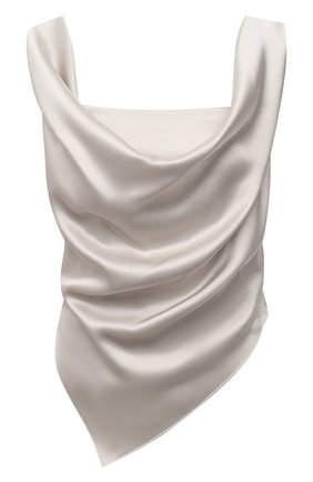 Женский топ NANUSHKA серебряного цвета, арт. PETRA_SILVER TAUPE_SLIP SATIN | Фото 1