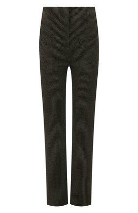 Женские брюки NANUSHKA хаки цвета, арт. TABBIE_KHAKI CHECK_SEERSUCKER | Фото 1