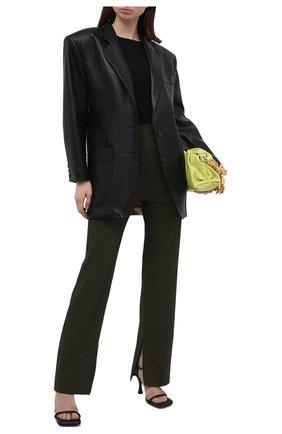 Женские брюки NANUSHKA хаки цвета, арт. TABBIE_KHAKI CHECK_SEERSUCKER | Фото 2