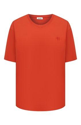 Женская хлопковая футболка NANUSHKA красного цвета, арт. REECE_MARSALA_0RGANIC JERSEY | Фото 1