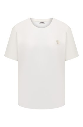 Женская хлопковая футболка NANUSHKA белого цвета, арт. REECE_0FF WHITE_0RGANIC JERSEY | Фото 1
