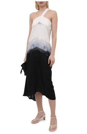 Женские кожаные босоножки ficelle ELLEME белого цвета, арт. FICELLE ANKLE STRAP PATENT/LEATHER | Фото 2