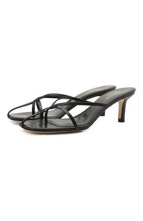 Женские кожаные мюли etoile ELLEME черного цвета, арт. ET0ILE HEEL/LEATHER | Фото 1 (Материал внутренний: Натуральная кожа; Каблук высота: Средний; Подошва: Плоская; Каблук тип: Шпилька)