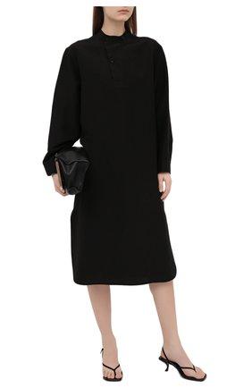 Женские кожаные босоножки constance THE ROW черного цвета, арт. F1196-L106H | Фото 2