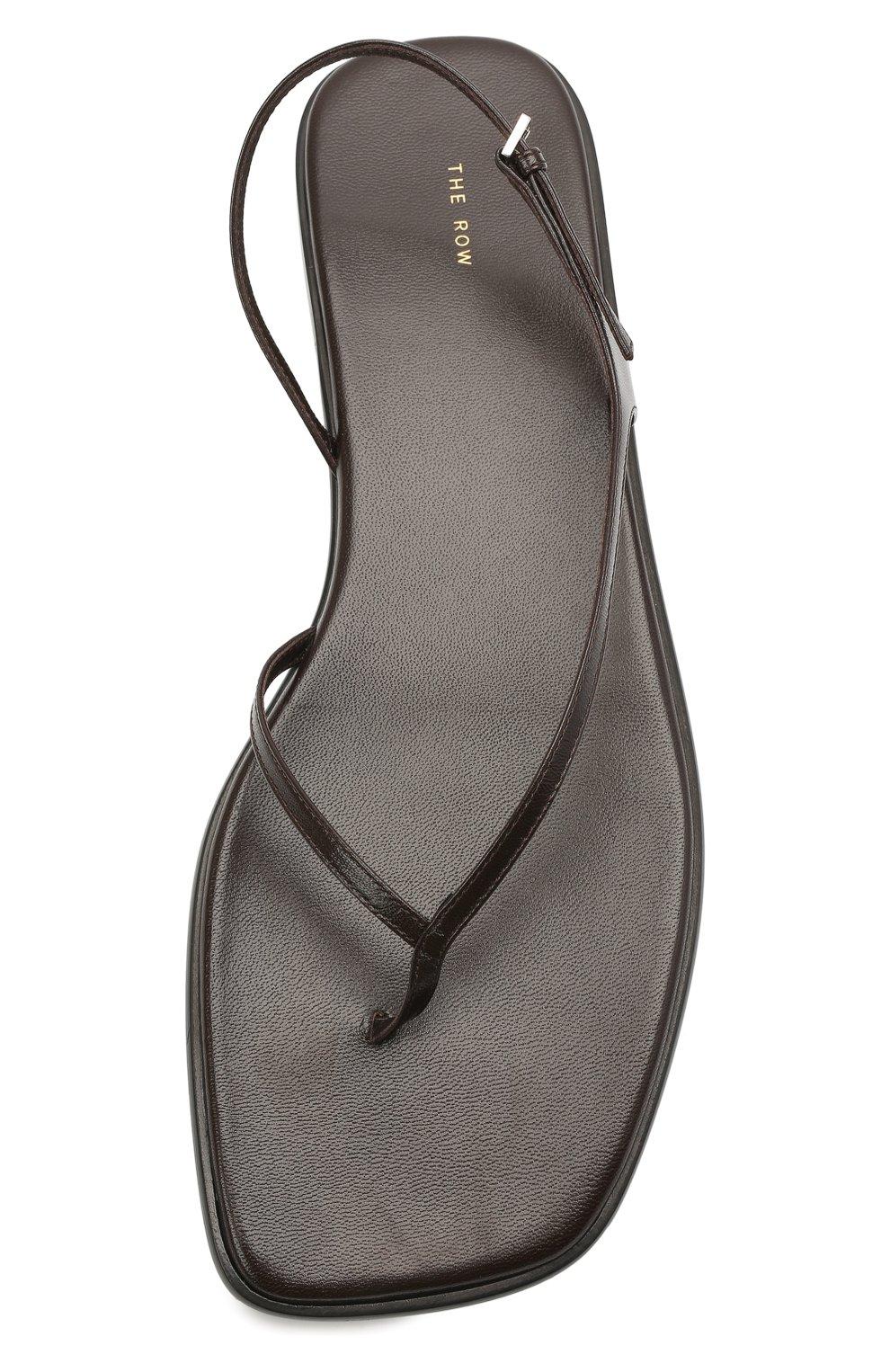 Женские кожаные сандалии THE ROW темно-коричневого цвета, арт. F1197-L35   Фото 5