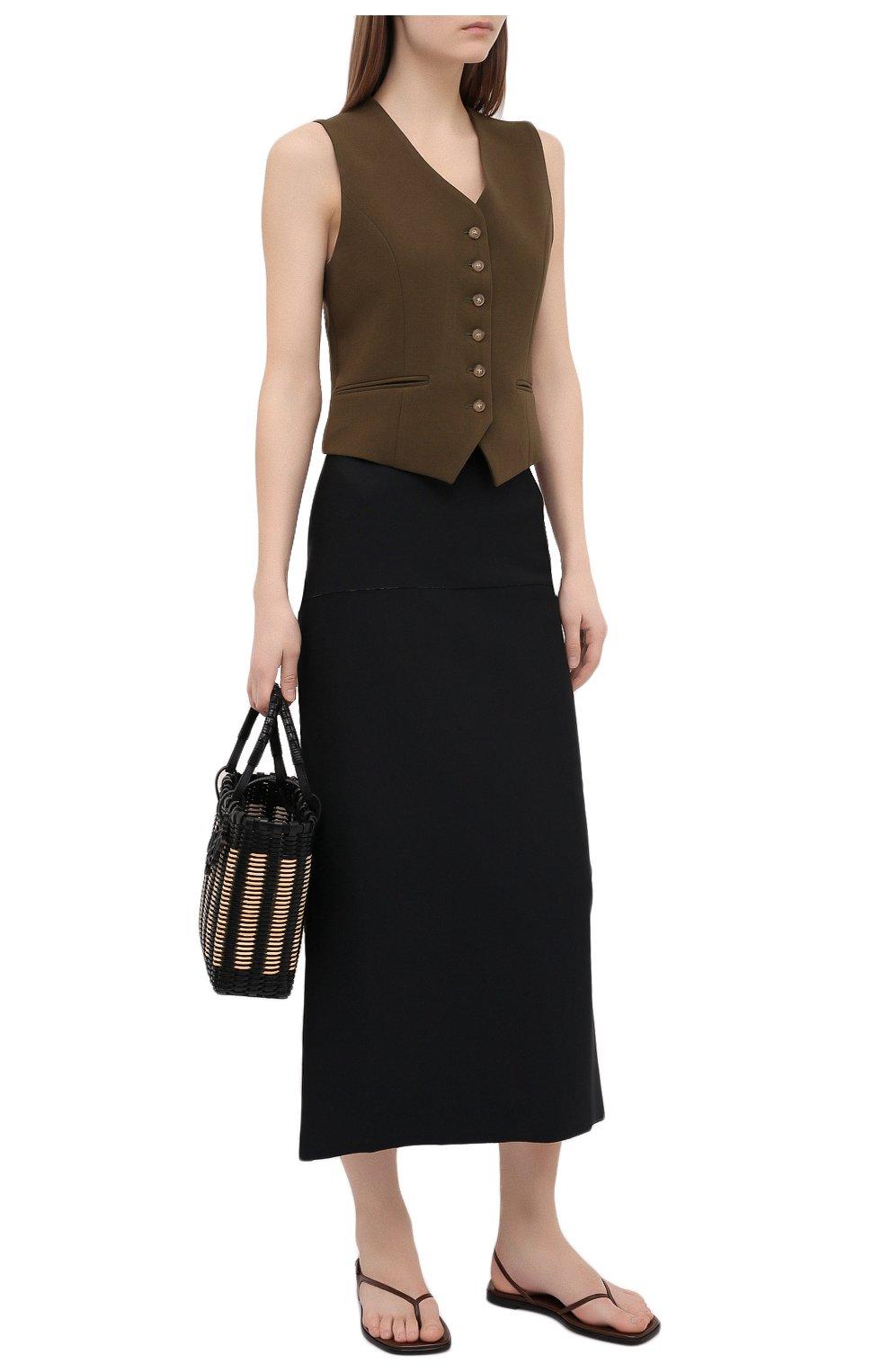 Женские кожаные сандалии THE ROW коричневого цвета, арт. F1197-L35 | Фото 2 (Каблук высота: Низкий; Материал внутренний: Натуральная кожа; Подошва: Плоская)