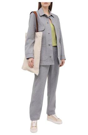 Женские текстильные кеды lauren CHLOÉ бежевого цвета, арт. CHC21U108Q7 | Фото 2