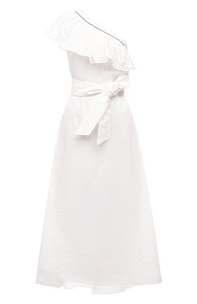 Женское хлопковое платье BRUNELLO CUCINELLI белого цвета, арт. M0F79A4756 | Фото 1