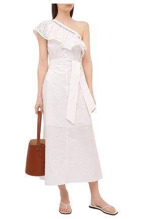 Женское хлопковое платье BRUNELLO CUCINELLI белого цвета, арт. M0F79A4756 | Фото 2