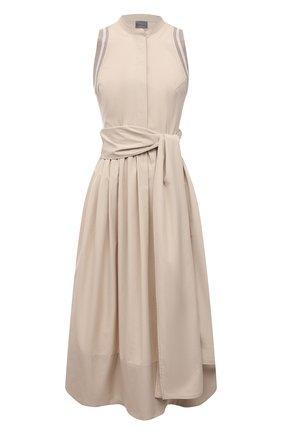 Женское хлопковое платье LORENA ANTONIAZZI бежевого цвета, арт. E2100AB063/3434 | Фото 1