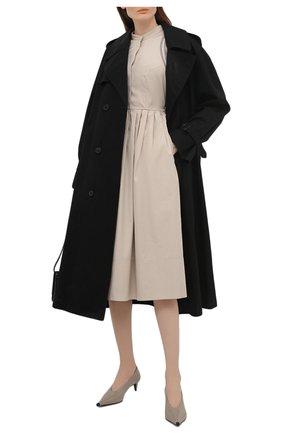 Женское хлопковое платье LORENA ANTONIAZZI бежевого цвета, арт. E2100AB063/3434 | Фото 2
