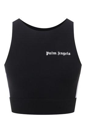 Женский топ PALM ANGELS черного цвета, арт. PWV0001S21FAB0021001   Фото 1