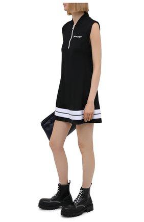 Женское платье PALM ANGELS черного цвета, арт. PWDB094S21FAB0031001   Фото 2