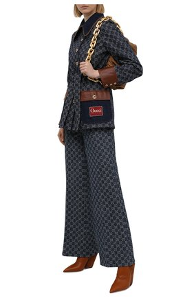 Женский джинсовый жакет GUCCI темно-синего цвета, арт. 652658/XDBIP | Фото 2