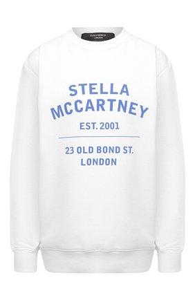Женский хлопковый свитшот STELLA MCCARTNEY белого цвета, арт. 601847/SMP83 | Фото 1 (Стили: Спорт-шик; Рукава: Длинные; Материал внешний: Хлопок; Длина (для топов): Стандартные; Женское Кросс-КТ: Свитшот-одежда)