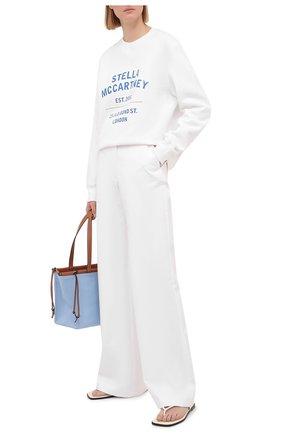Женский хлопковый свитшот STELLA MCCARTNEY белого цвета, арт. 601847/SMP83 | Фото 2 (Стили: Спорт-шик; Рукава: Длинные; Материал внешний: Хлопок; Длина (для топов): Стандартные; Женское Кросс-КТ: Свитшот-одежда)