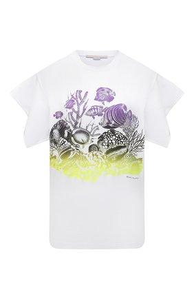Женская хлопковая футболка STELLA MCCARTNEY белого цвета, арт. 602146/S0W71 | Фото 1