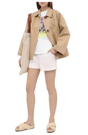 Женская хлопковая футболка STELLA MCCARTNEY белого цвета, арт. 602146/S0W71 | Фото 2