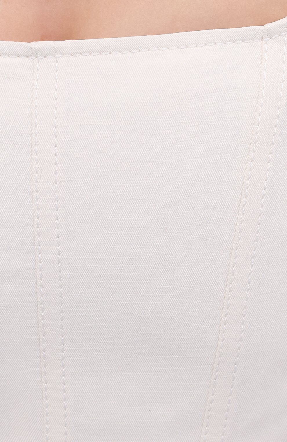 Женский топ из хлопка и льна STELLA MCCARTNEY белого цвета, арт. 603061/SIA03 | Фото 5