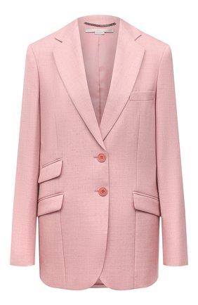 Женский жакет из вискозы и льна STELLA MCCARTNEY розового цвета, арт. 603171/SMB61 | Фото 1