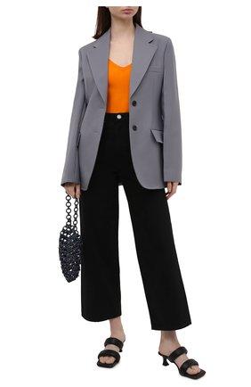 Женское боди из вискозы DRIES VAN NOTEN оранжевого цвета, арт. 211-11228-2700   Фото 2