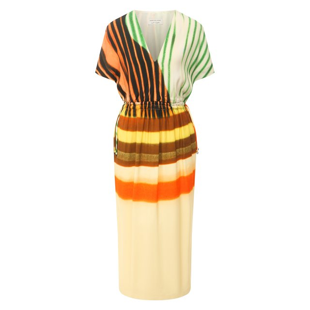 Платье из вискозы и хлопка Dries Van Noten