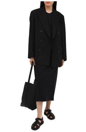 Женский хлопковый жакет DRIES VAN NOTEN черного цвета, арт. 211-10439-2017 | Фото 2