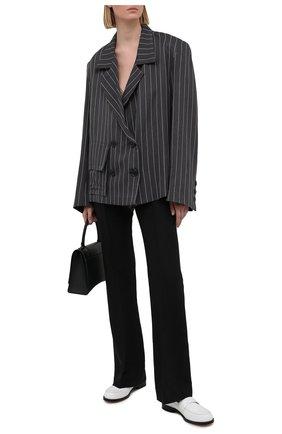 Женский двубортный жакет NATASHA ZINKO темно-серого цвета, арт. SS21DU0408-03/36 | Фото 2