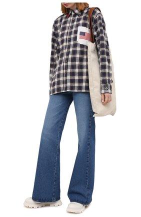 Женская хлопковая рубашка NATASHA ZINKO разноцветного цвета, арт. SS21DU0212-33   Фото 2
