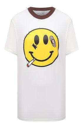 Женская хлопковая футболка NATASHA ZINKO белого цвета, арт. SS21511-06/29   Фото 1