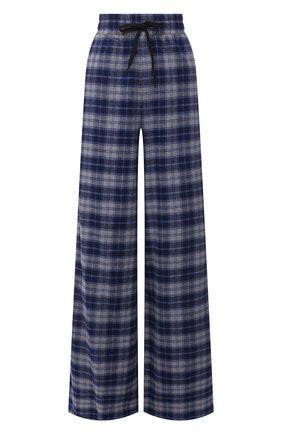 Женские хлопковые брюки NATASHA ZINKO синего цвета, арт. SS21312-30/05   Фото 1