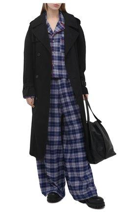 Женские хлопковые брюки NATASHA ZINKO синего цвета, арт. SS21312-30/05   Фото 2