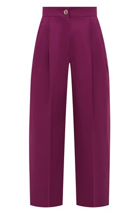 Женские хлопковые брюки DOLCE & GABBANA сиреневого цвета, арт. FTB3NT/FUFJR | Фото 1