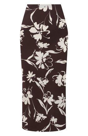 Женская юбка из вискозы RALPH LAUREN коричневого цвета, арт. 290840906 | Фото 1