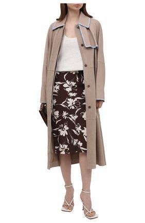 Женская юбка из вискозы RALPH LAUREN коричневого цвета, арт. 290840906 | Фото 2