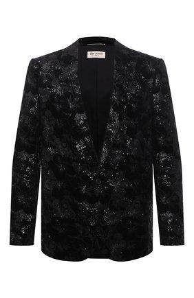 Мужской пиджак SAINT LAURENT черного цвета, арт. 645746/Y525R | Фото 1