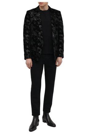 Мужской пиджак SAINT LAURENT черного цвета, арт. 645746/Y525R | Фото 2