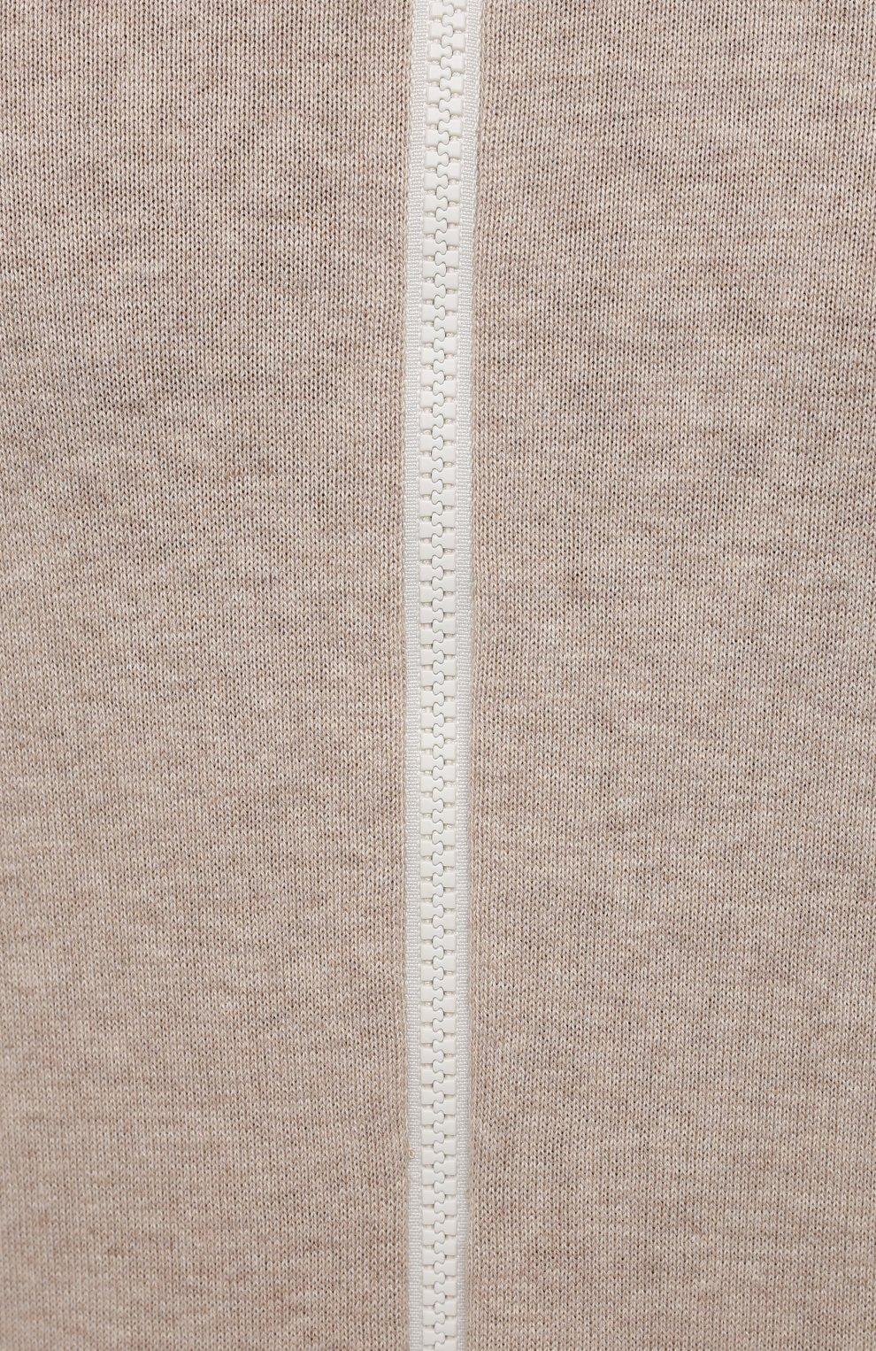 Мужской хлопковый кардиган BRUNELLO CUCINELLI бежевого цвета, арт. M2917906 | Фото 5