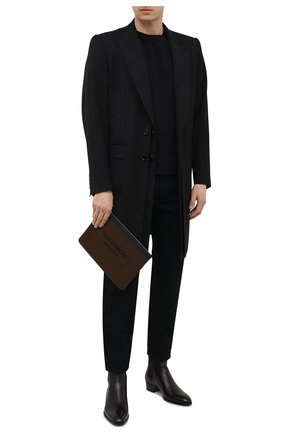 Мужская текстильный клатч SAINT LAURENT хаки цвета, арт. 581369/96NAE   Фото 2