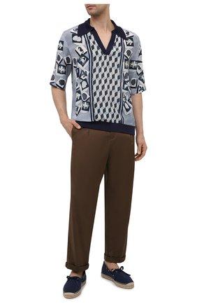 Мужские текстильные эспадрильи RALPH LAUREN темно-синего цвета, арт. 815835895 | Фото 2