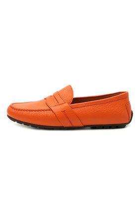 Мужские кожаные мокасины RALPH LAUREN оранжевого цвета, арт. 815835903   Фото 3
