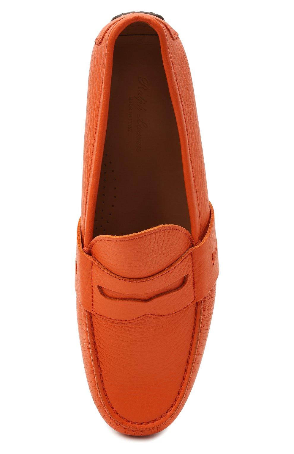 Мужские кожаные мокасины RALPH LAUREN оранжевого цвета, арт. 815835903   Фото 5