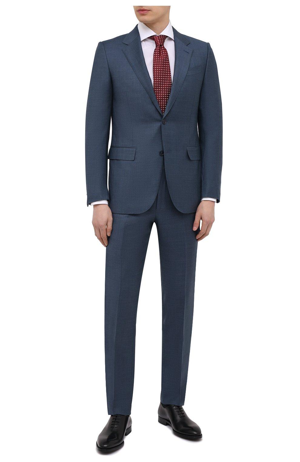 Мужские кожаные оксфорды MAGNANNI черного цвета, арт. 15887/WIND | Фото 2 (Материал внутренний: Натуральная кожа; Стили: Классический)