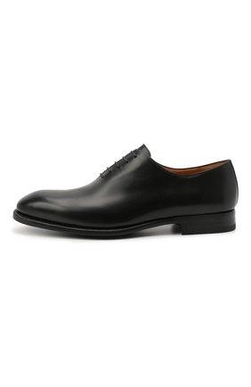 Мужские кожаные оксфорды MAGNANNI черного цвета, арт. 15887/WIND | Фото 3 (Материал внутренний: Натуральная кожа; Стили: Классический)
